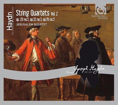 Segundo volumen de Cuartetos de Haydn por el Cuarteto Jerusalem