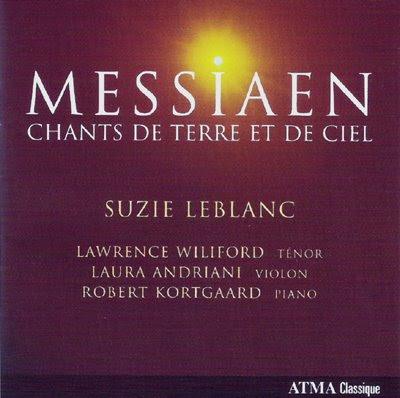 Messiaen juvenil cantado por Suzie Leblanc en Atma