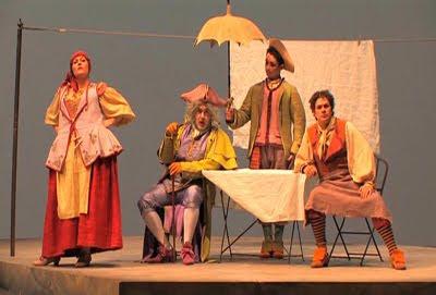 Un instante del Alidoro de Leo en la producción de Arturo Cirillo y Antonio Florio