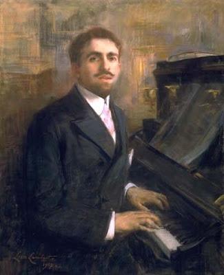 Raynaldo Hahn retratado por Lucie Lambert en 1907