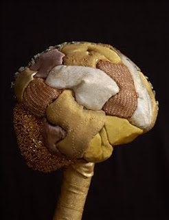 cérebro feito em patchwork