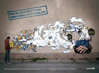 unicef graffiti ad