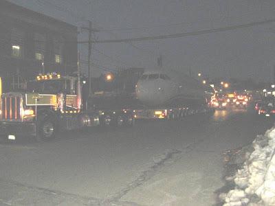 Transporte do avião do rio Hudson