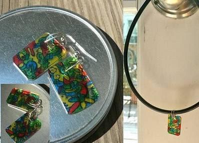 bijuteria em plástico reciclado
