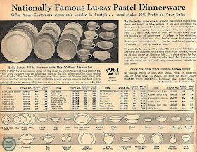 4 place settings Lu-Ray Pastel