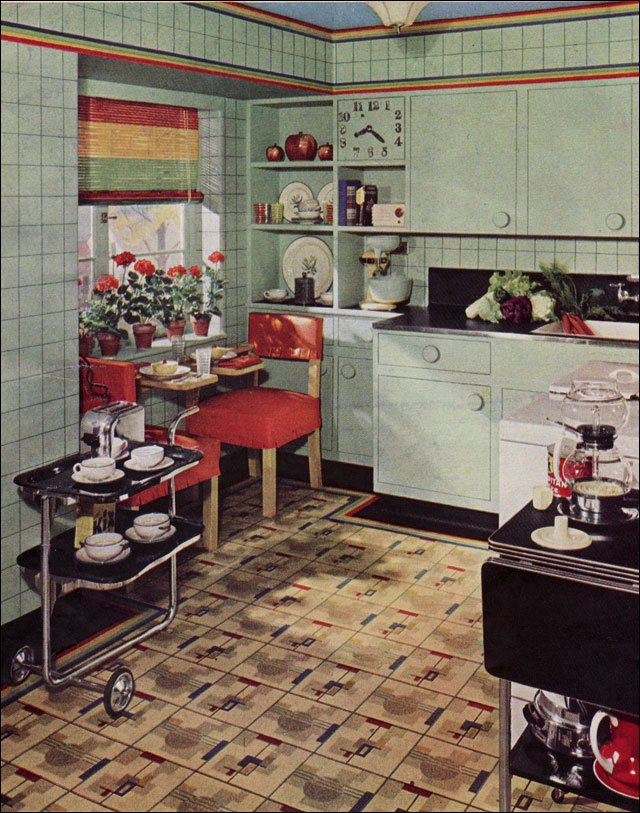 C dianne zweig kitsch 39 n stuff gallery of 1930 39 s kitchens featured on antique home style - Vintage looking home decor gallery ...