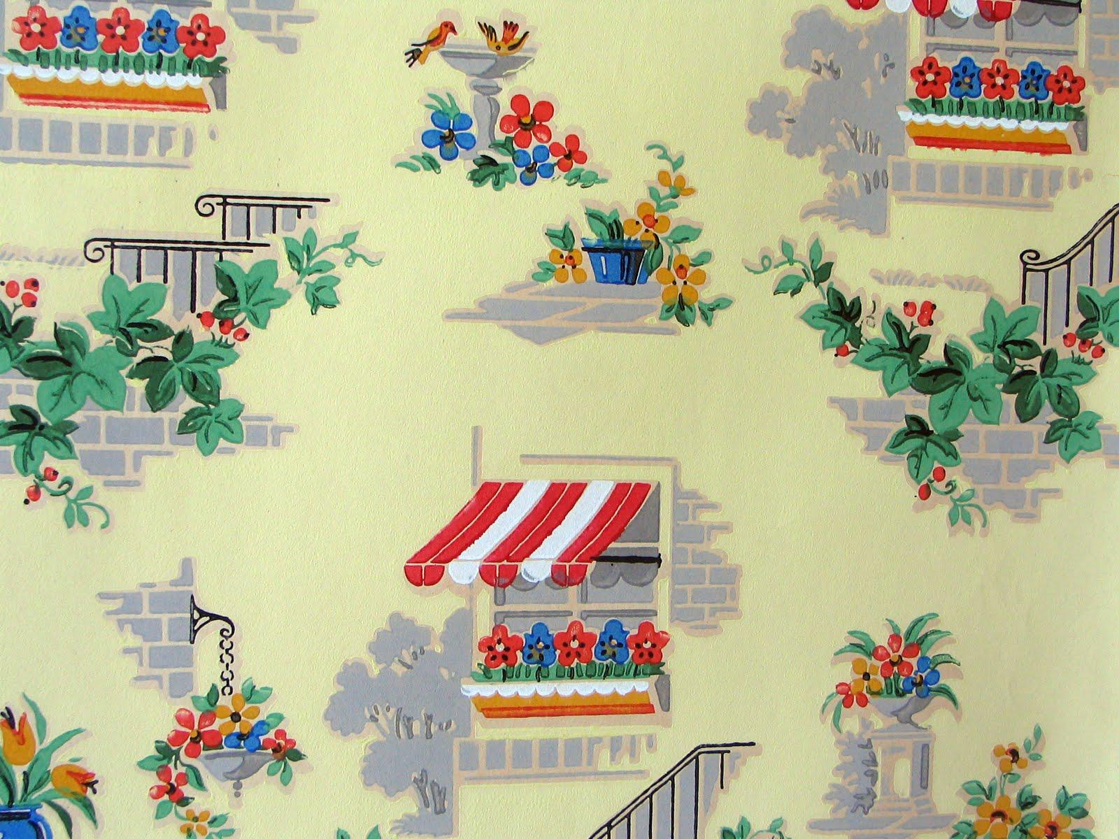 c dianne zweig kitsch n stuff vintage wallpaper is charming country cottage kitchen