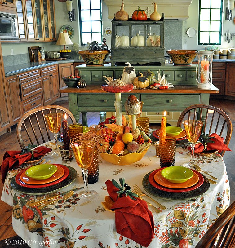 Decorating With Fiestaware Dianne Zweig Kitsch 39 N Stuff Setting Your Table For Thanksgiving