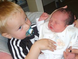 Big brother Thomas and Baby Sophie