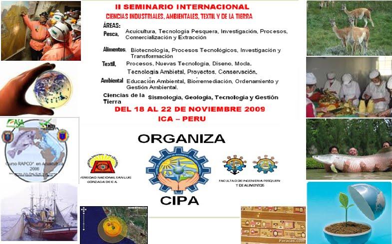 II SEMINARIO INTERNACIONALEN CIENCIAS INDUSTRIALES, AMBIENTALES, TEXTIL Y CIENCIAS DE LA TIERRA