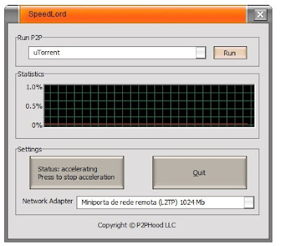 Download Speed Lord Deixe os programas P2P otimizados e ative o turbo nos downloads.