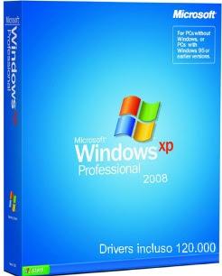 Windows XP Profissional Original SP3 + 120mil Drivers Sistema operacional Configuração na linguagem Portugues do Brasil, sistema Original, incluso serial Original para sua autenticacao no update da microsoft. Versao 2008 incluso 120 mil drivers durante a instalação