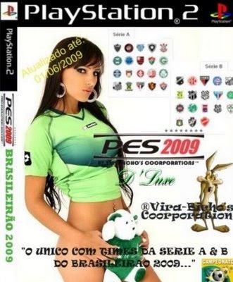 PES 2009: D'Luxe Brasileirão Séries A e B [PS2] - Patch feito Em cima do Pes2009; - 1º Patch com os times da serie A e B do Brasileirão; - Jogadores Brasileiros com suas notas revisadas e mais proporcionais, para evitar aqueles exageros de outros Patch's;