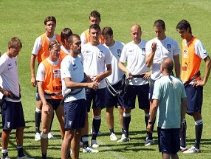 Training at Coverciano