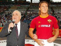 President Sensi with Totti