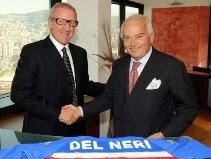 Luigi Del Neri & President Riccardo Garrone