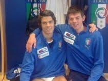Lorenzo Crisetig (l) with U17 team-mate Simone Magnaghi