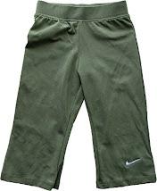 NIKE Green 3/4 Girl Pant (Elastic Waist)