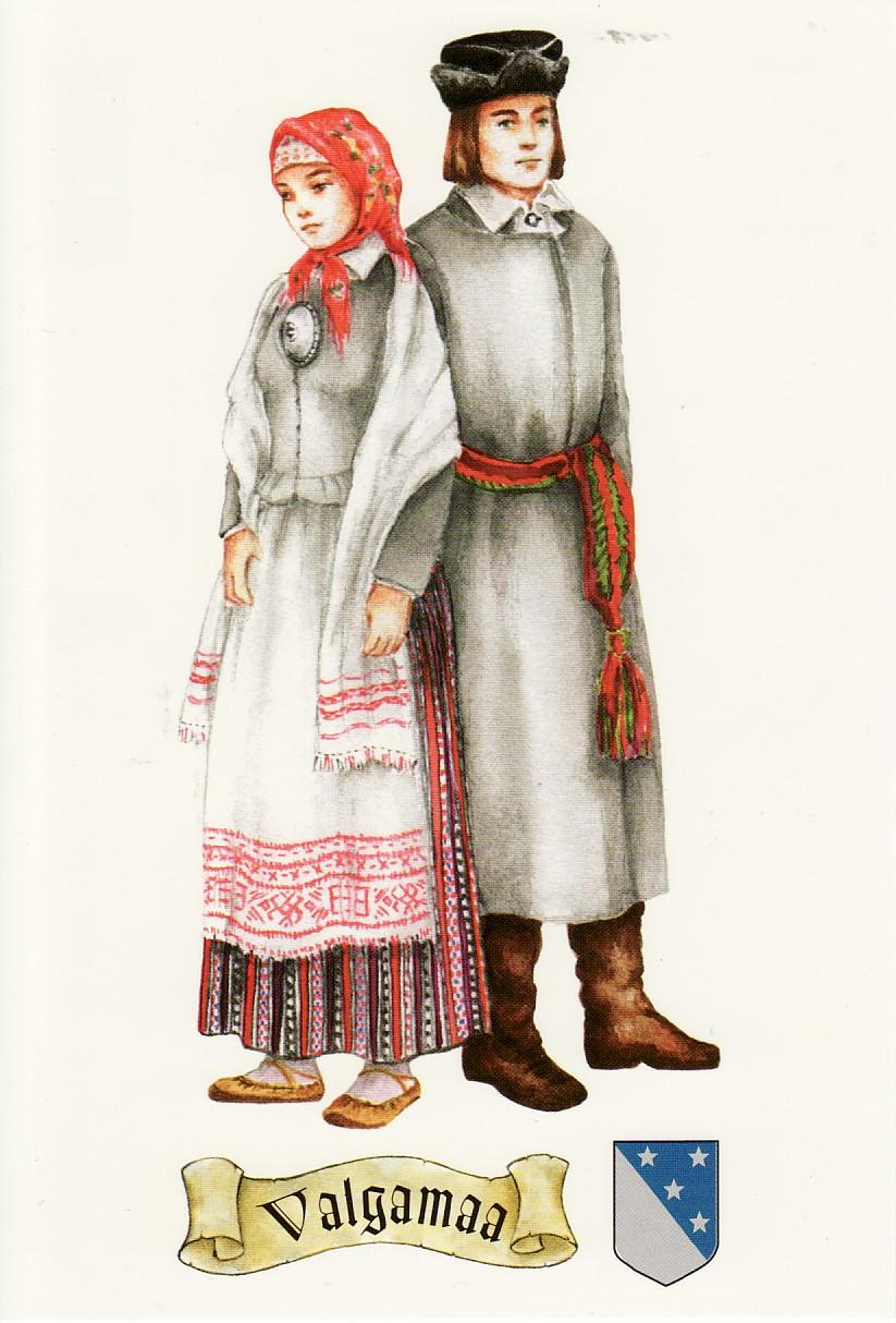 National Costume of Cuba http://ulvikarupostcards.blogspot.com/2010/05/estonia-national-costumes-of-valgamaa.html