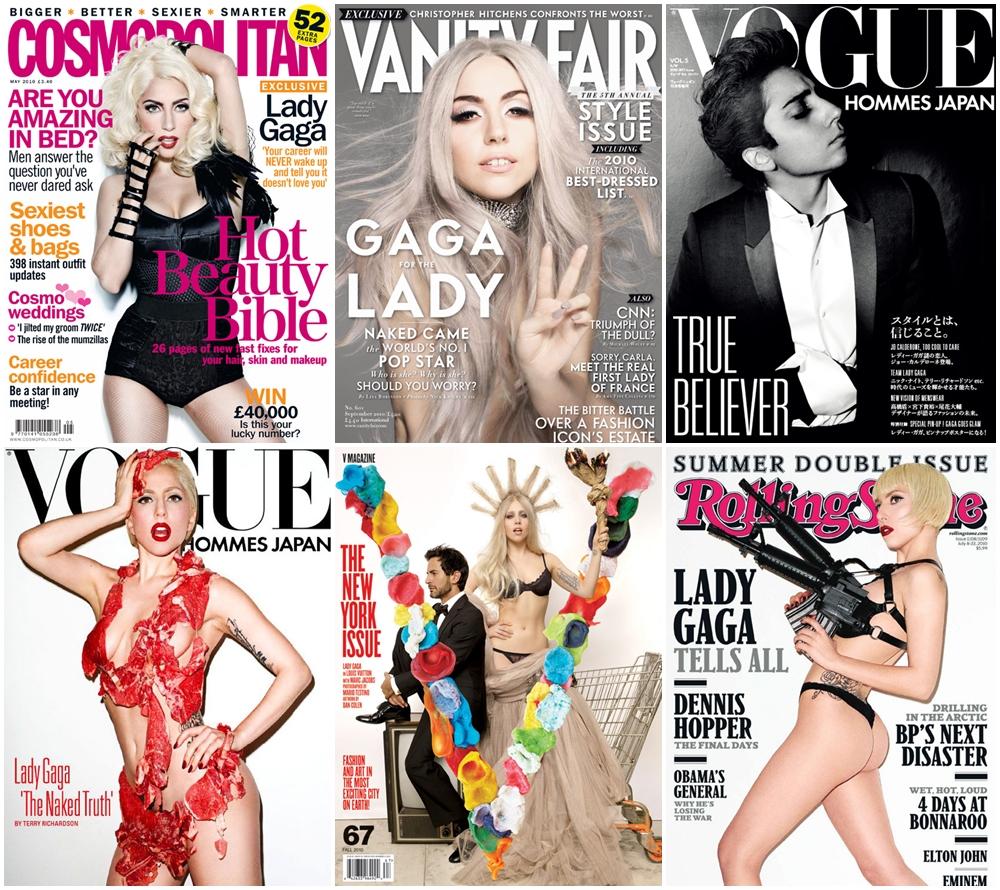 Las revistas con GaGa en la portada las más vendidas