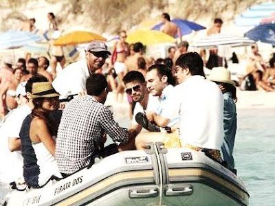 Fotos de Piqué en Ibiza de vacaciones