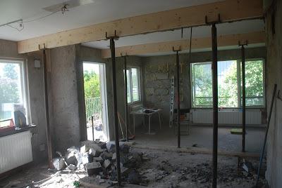 Riva vägg mellan kök och vardagsrum kostnad