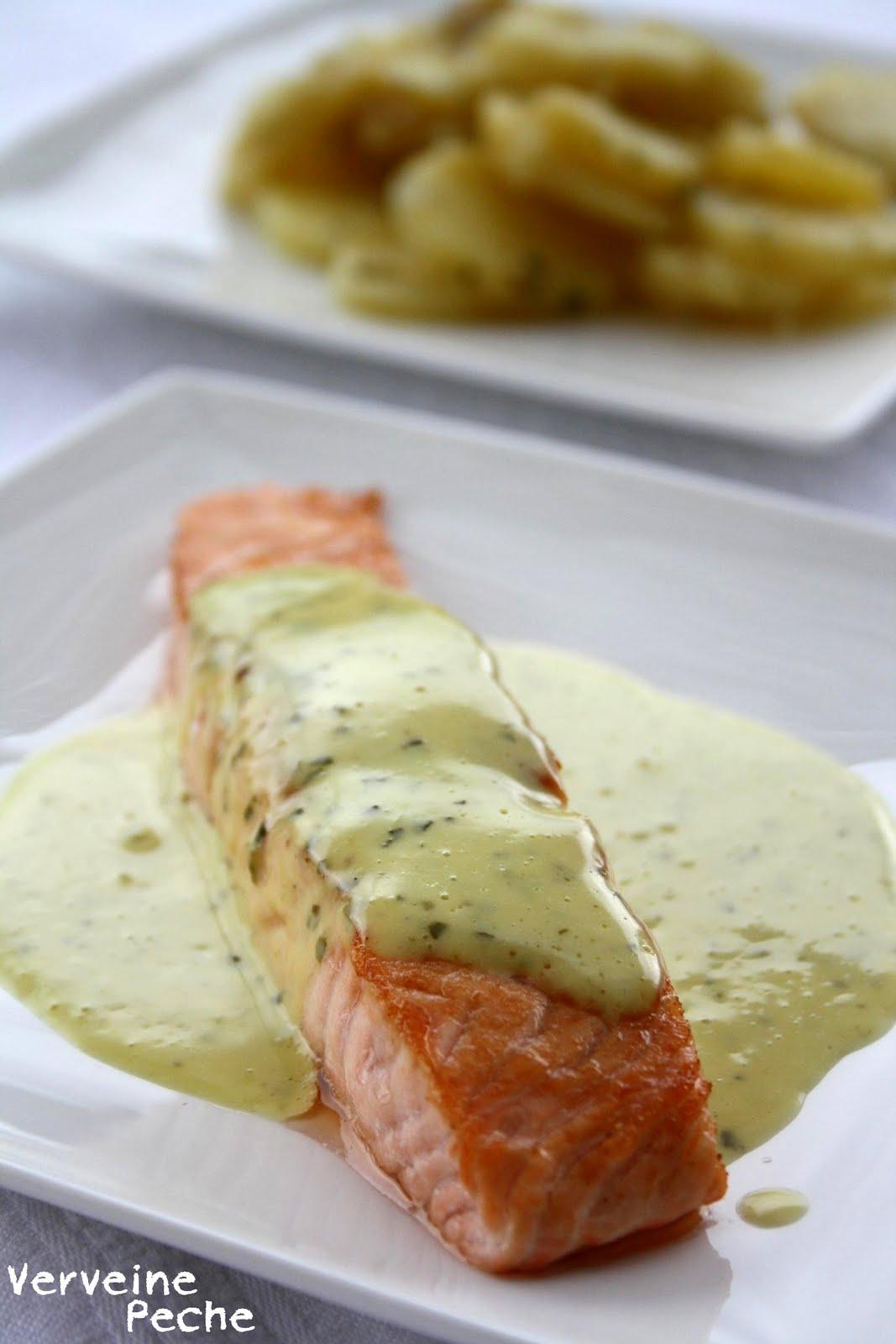 Verveine p che saumon grill sauce menthe et basilic - Sauce pour saumon grille barbecue ...