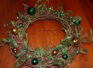 St. Patricks Day Wreath with Sinamay