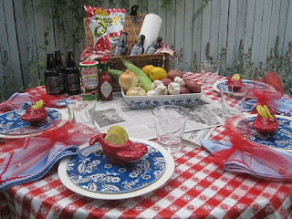 crawfish boil tablescape