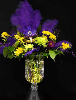 Glowing Mardi Gras Centerpiece