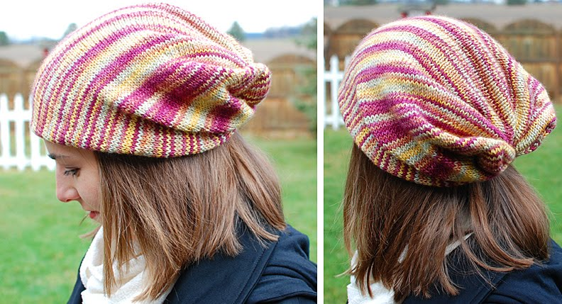 twistedBurl Slouchy Hat – Free Pattern - Knitting patterns by