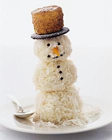 Muñecos de nieve comestibles para Navidad