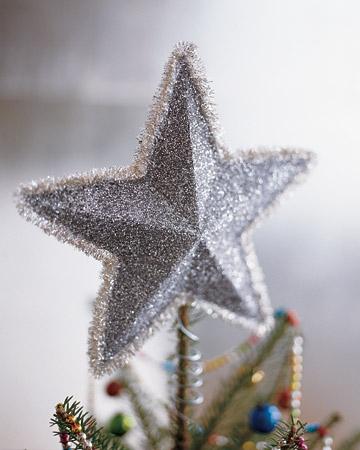 Estrella puntero o adorno para colgar en el arbol de Navidad