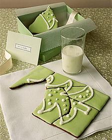 Puzzle comestible de galleta de jengibre para Navidad