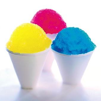 Conos de nieve caseros, helados de hielo picado (receta snow cones)