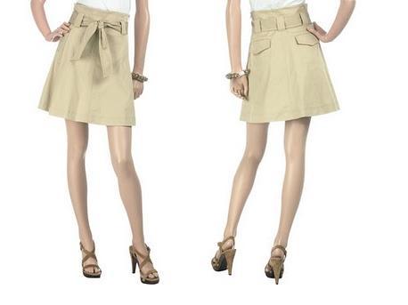 Como hacer una falda/pollera evase o en A, molde e instrucciones