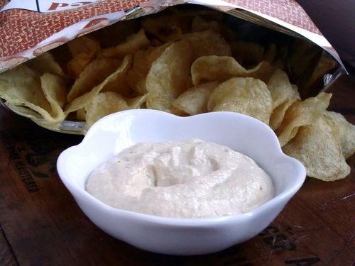 Aderezo, crema o dip de cebolla, para vegetales o frituras