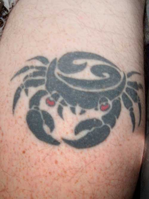 Cancer zodiac tattoos symbol cancer tattoos for Cancer astrology tattoos