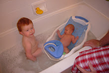 Sophie and Ruby 1st bath together
