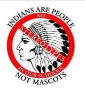 INDIANS ARE PEOPLE NOT MASCOTS