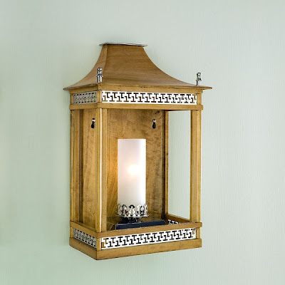 Seamans Furniture on Wooden Pavilion Lantern In Oak And Nickel  From Charles Edwards