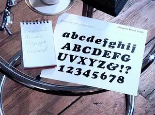 copper black italic typeface