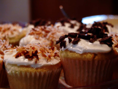 Topped with Toasted Coconut and Chocolate Shavings