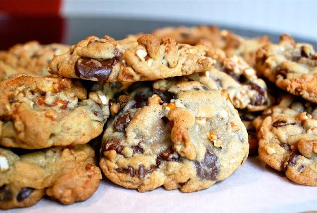 Bittersweet Chocolate Chip Pretzel Cookie Recipe