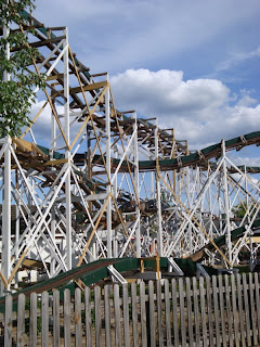 The haunted roller coaster at Lakemont Park in Altoona, Pennsylvania