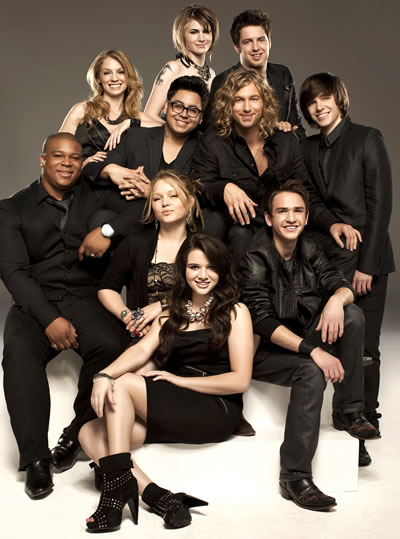 american idol season 10 top 9. The Top Ten American Idols are