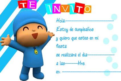 Tarjeta de cumpleaños para imprimir de Pocoyo - Imagui
