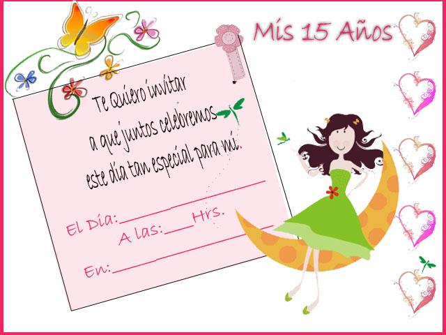 Plantillas para invitaciónes de 15 años - Imagui
