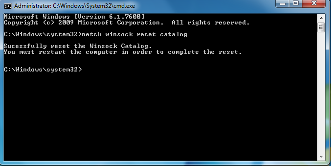 internet support winsock fix for windows 7 [solved]netsh int ip reset reset log hit (resets tcp ip stack)