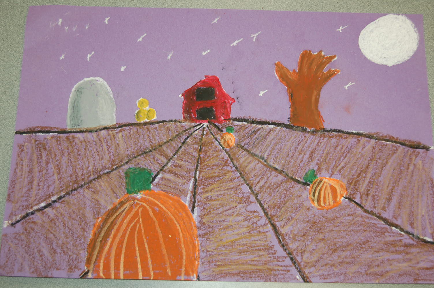 1st grade fall landscapes